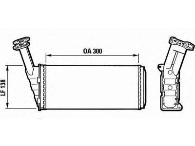Grijač kabine Citroen BX 82-93