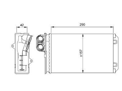 Grijač kabine Citroen XM 89-00