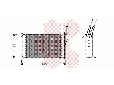 Grijač kabine FORD Escort II 80-86