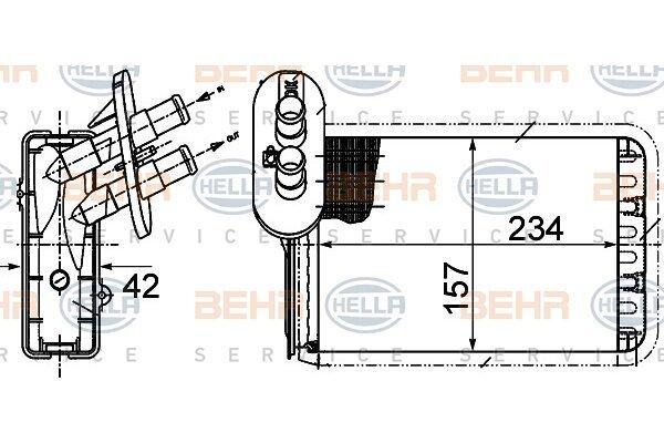 Grijač kabine Ford GALAXY 95-00 (1072814), Behr
