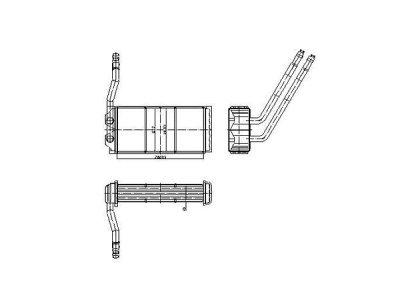 Grijač kabine Land Rover FREELANDER 97-06 (JEF100150), Behr