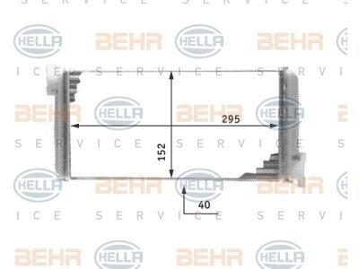 Grijač kabine Mercedes 190 (201) 82-/89-93 (0028353701), Behr