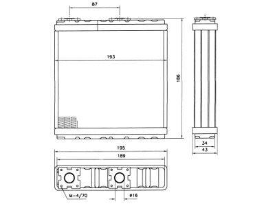Grijač kabine Nissan ALMERA 95-00