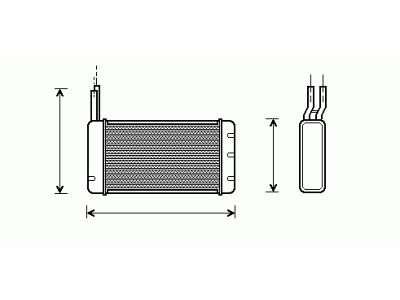 Grijač kabine Rover/MG 800 86-98