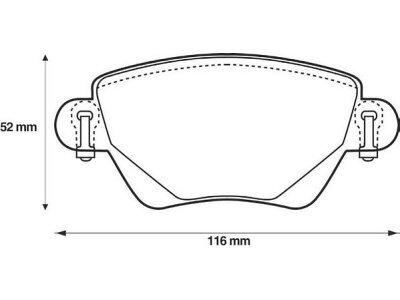 Hintere Bremsbeläge S70-1055 - Ford