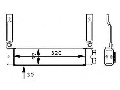 Hladilnik olja Ford Escort 95-