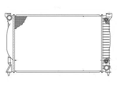 Hladilnik vode 133408A7 - Audi A4 00-04