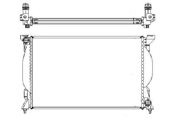 Hladilnik vode 133408A8 - Audi A4 00-04