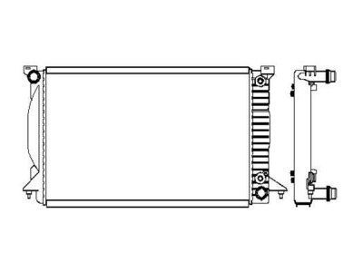 Hladilnik vode 133508-2 - Audi A4 00-07