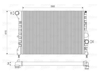 Hladilnik vode 140408A2 - Alfa Romeo 147 00-10