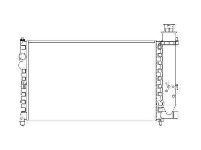Hladilnik vode 231308A4 - Citroen BX 82-94