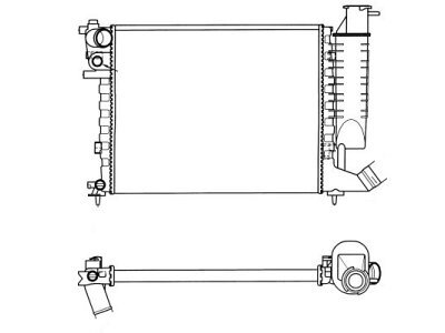 Hladilnik vode 232608-3 - Citroen Xsara 97-00