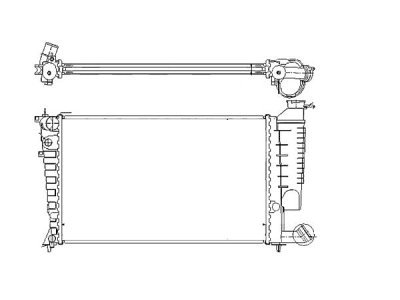 Hladilnik vode 232608-A - Citroen Xsara 97-00