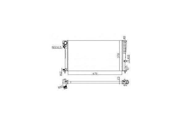 Hladilnik vode 2326081X - Citroen Xsara 97-00 (OEM)