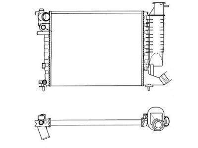 Hladilnik vode 232608A6 - Citroen Xsara 97-00