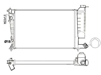 Hladilnik vode 232608A9 - Citroen Xsara 98-00
