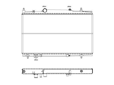 Hladilnik vode 233208-3 - Citroen C8 02-