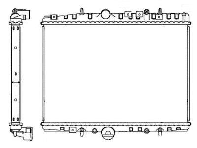 Hladilnik vode 233208A6 - Citroen C5 00-08