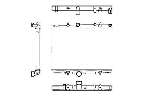 Hladilnik vode 233208A7 - Citroen C5 00-08