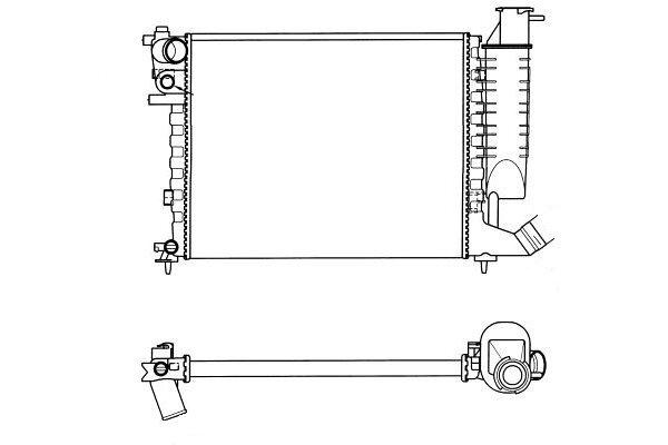 Hladilnik vode 235008A0 - Citroen Xsara 97-00
