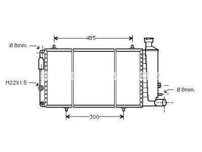 Hladilnik vode 2390086X - Citroen Visa 78-