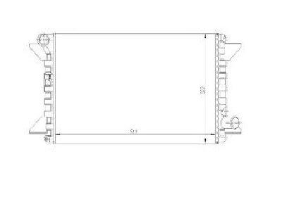 Hladilnik vode 2390087X - Citroen C15 84-05 (OEM)