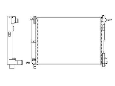 Hladilnik vode 242008B3 - Chrysler Voyager 01-08