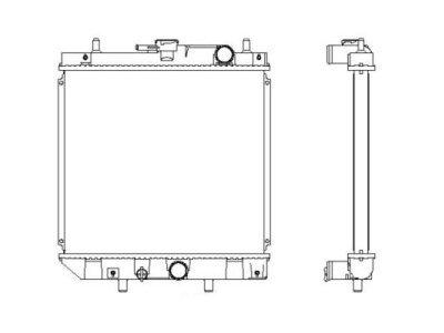 Hladilnik vode 260208-1 - Daihatsu Applause 97-00