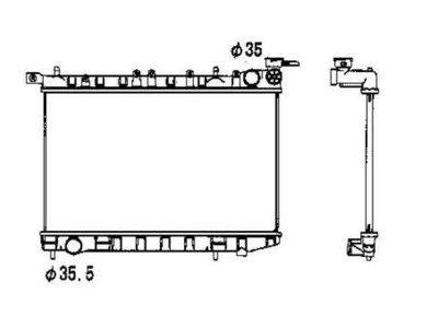 Hladilnik vode 273108-1 - Nissan Almera 95-00