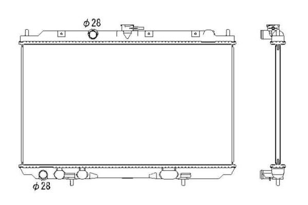 Hladilnik vode 275608-1 - Nissan Almera Tino 00-06