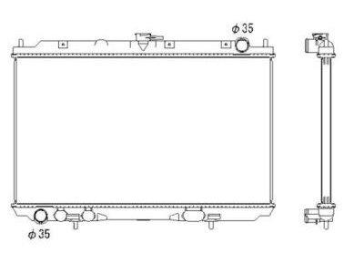 Hladilnik vode 2756082K - Nissan Almera Tino 00-06
