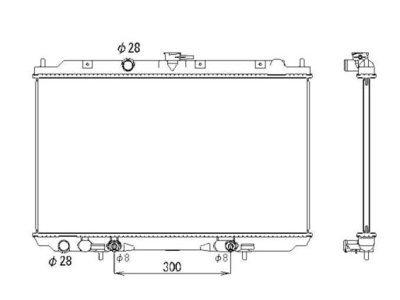 Hladilnik vode 2756083K - Nissan Almera Tino 00-06