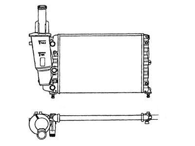 Hladilnik vode 301708-1 - Fiat Punto 93-99