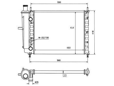 Hladilnik vode 301808A0 - Fiat Bravo 96-02