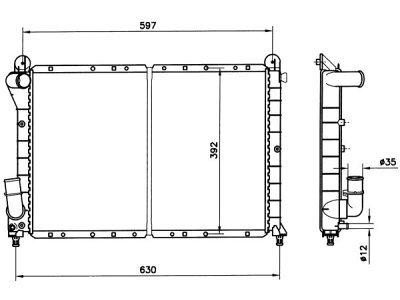 Hladilnik vode 3037083X - Fiat Coupe 93-00 (OEM)