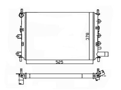 Hladilnik vode 320608A4 - Ford Escort 90-00