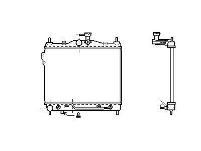 Hladilnik vode 404208-4 - Hyundai Getz 02-11