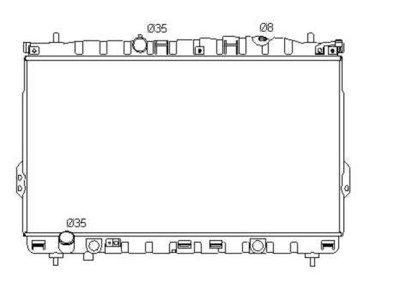Hladilnik vode 407508-1 - Hyundai Trajet 00-08