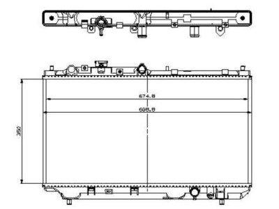 Hladilnik vode 4509081K - Mazda 323F 98-03