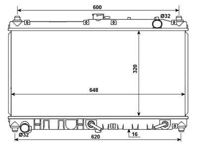 Hladilnik vode 453508-3 - Mazda MX-5 98-05