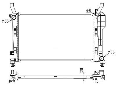 Hladilnik vode 500608A2 - Mercedes-Benz Razred A W169 04-12
