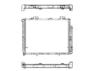Hladilnik vode 501508-1 - Mercedes-Benz Razred E W210 95-00