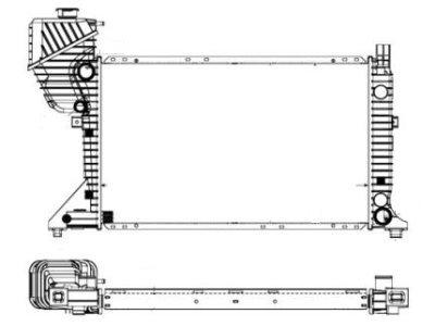Hladilnik vode 506208-3 - Mercedes Sprinter 95-00