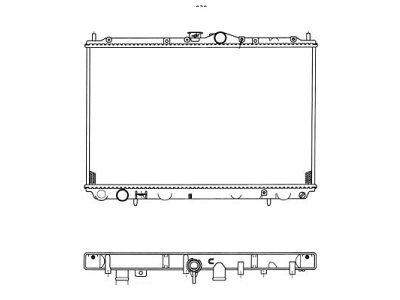 Hladilnik vode 521008-1 - Mitsubishi Carisma 95-04