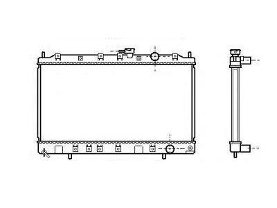 Hladilnik vode 5230085K - Mitsubishi Space Runner 91-02