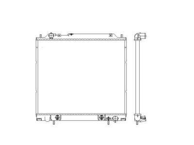Hladilnik vode 525008-3 - Mitsubishi Space Gear 94-00