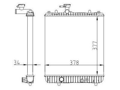 Hladilnik vode 550308B1 - Opel Agila 00-07
