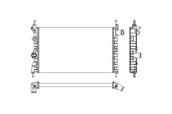 Hladilnik vode 550508-0 - Opel Kadett E 84-93