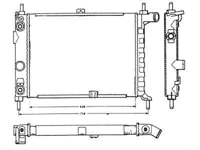 Hladilnik vode 550508-8 - Opel Kadett E 84-93