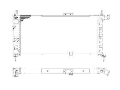 Hladilnik vode 550508A4 - Opel Kadett E 84-93